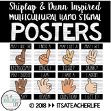 Hand Signal Posters | Shiplap & Dunn Inspired Multicultural