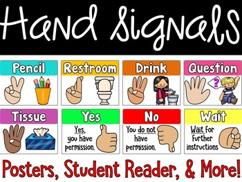 Hand Signal Posters, Student Reader, Teacher Book, Anchor Chart