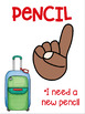 Hand Signal Posters Travel Theme Class Management