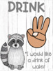 Hand Signal Posters *Woodland Animal* Theme Class Management
