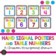 Hand Signal Posters and Table Numbers - Multicolored
