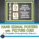 Hand Signal Posters for Classroom Management - Burlap Theme