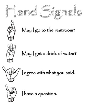 Hand Signal Rules