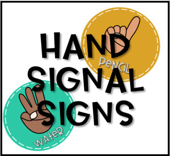 Hand Signal Signs- Bright Colors