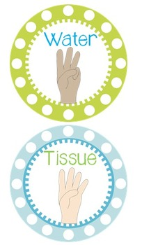 Hand Signal Signs {Blue, Green & White}
