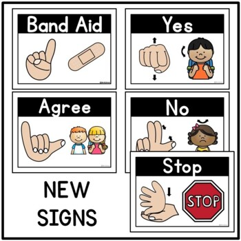 Hand Signal Signs Posters for Classroom Management and Nonverbal Routines