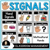 Hand Signal Signs Posters for Classroom Management and Non