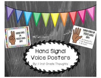 Hand Signal Voice Posters