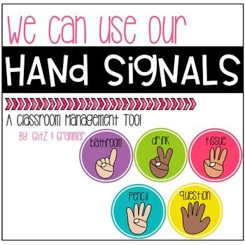 Hand Signals-A Classroom Management Tool