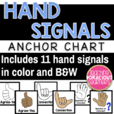 Hand Signals Anchor Chart Labels