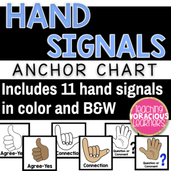 Hand Signals Anchor Chart Labels