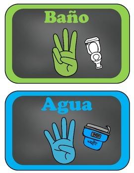 Hand Signals- Bilingual and Spanish