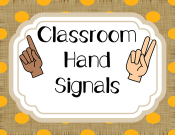 Hand Signals Burlap