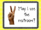 Hand Signal Classroom Posters