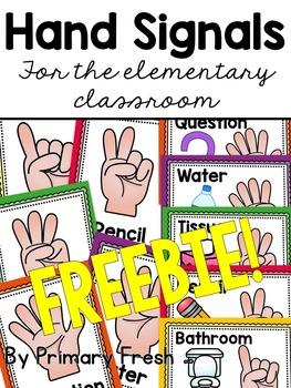 Hand Signals Classroom Management Freebie