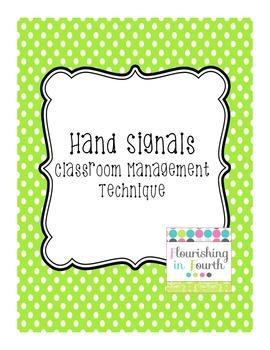 Hand Signals Classroom Management Technique