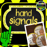 Hand Signals - Classroom Management and Assessment