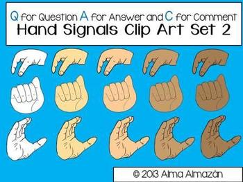 Hand Signals Clip Art Set 2 For Commercial Use Multicultural