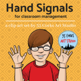 Hand Signals Clip Art and Poster Set - Classroom Management