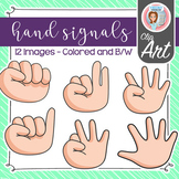 Hand Signals - Clip Art (Colored and B/W)