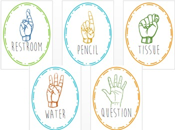 Hand Signals Posters (Color)