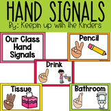 Hand Signals | Distance Learning | English and Spanish