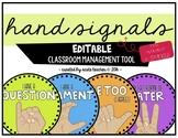 Hand Signals - EDITABLE .... & in Spanish!