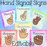 Hand Signals - EDITABLE Posters