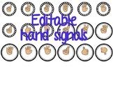 Hand Signals Editable