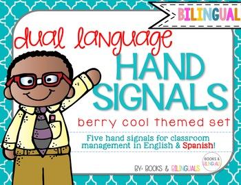 Hand Signals Editable {Bilingual} Berry Cool Set