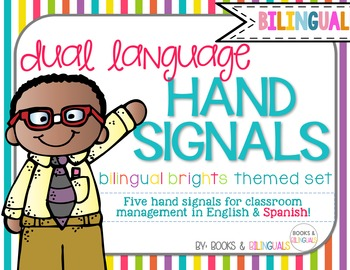 Hand Signals Editable {Bilingual} Brights Set