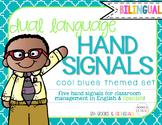 Hand Signals Editable {Bilingual} Cool Blues Set