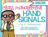 Hand Signals Editable {English} Brights Set