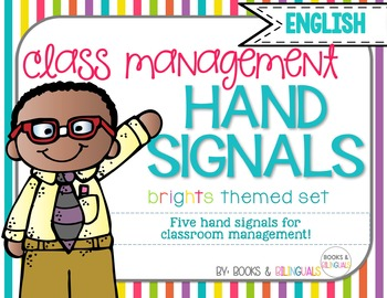 Hand Signals Editable {English} Brights Set