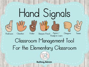 Hand Signals Freebie
