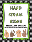 Hand Signals (Green with Black and White Polka dots)