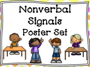 Hand Signals/ Nonverbal Signals-Cues Posters & Worksheets