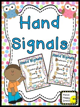 Hand Signals ~ Owl Theme