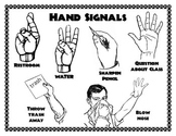 Hand Signals Poster, Classroom Management