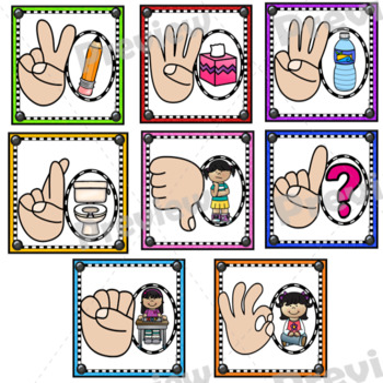 Hand Signals Poster Set