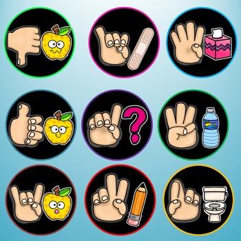Hand Signals Poster Set {Black}