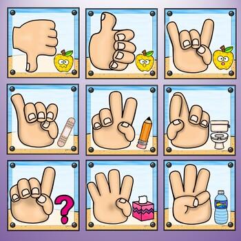 Hand Signals Poster Set – Ocean Theme
