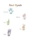 Hand Signals Poster FREEBIE