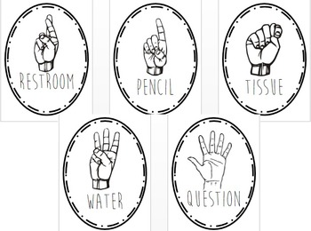 Hand Signals Posters (Black)