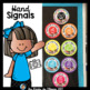 Hand Signals Posters Happy and Bright Classroom Decor