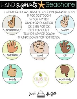 Hand Signals Posters Seashore
