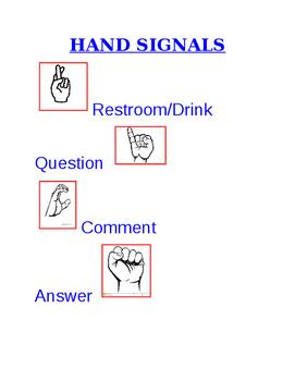 Hand Signals Posting