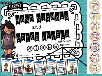 Hand Signals and Voice Levels Bundle