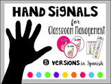 Hand Signals for Classroom Management Spanish Version