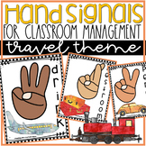 Hand Signals for Classroom Management in Travel Theme